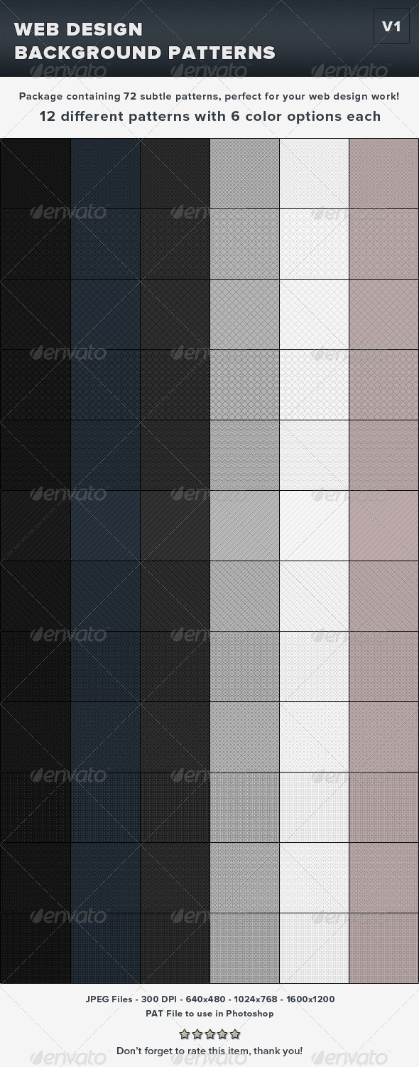GraphicRiver Web Design Background Subtle Pixel Patterns v1 4111188