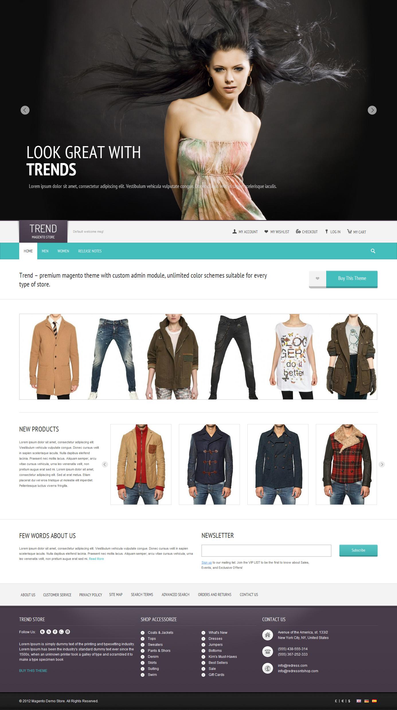 Trend - Responsive Magento Theme
