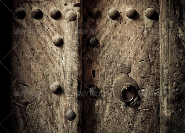 PhotoDune ancient oriental doors 4111491