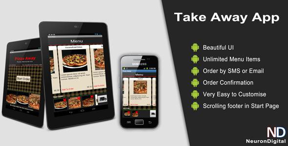CodeCanyon Take Away App 4111522