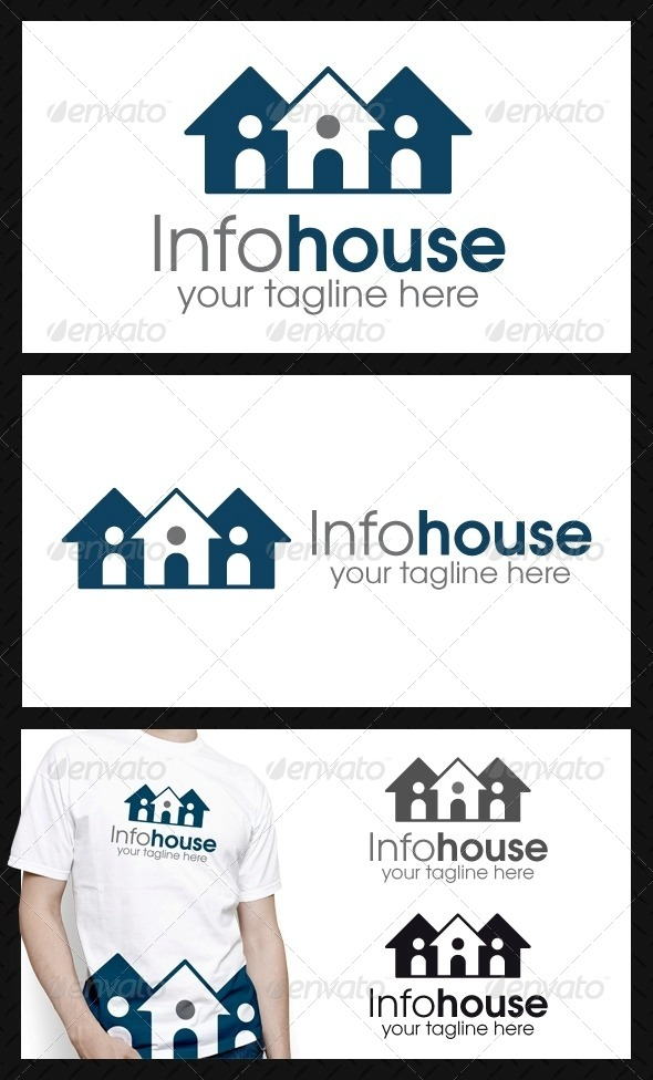 GraphicRiver Info House Logo Template 4111880