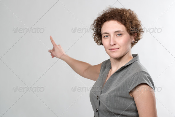 PhotoDune business woman pointing 4112127