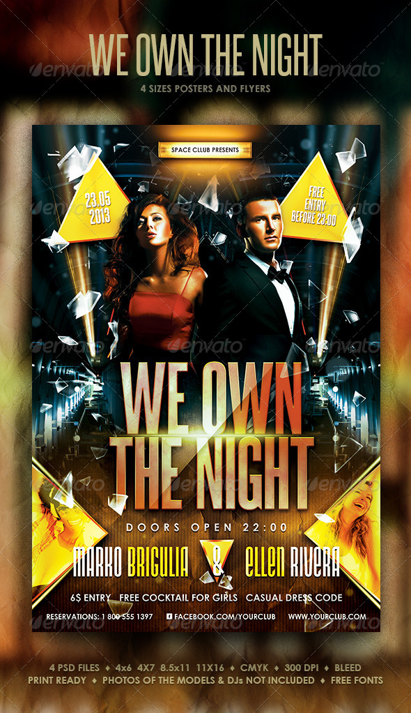 GraphicRiver We Own The Night Posters and Flyer 4112248