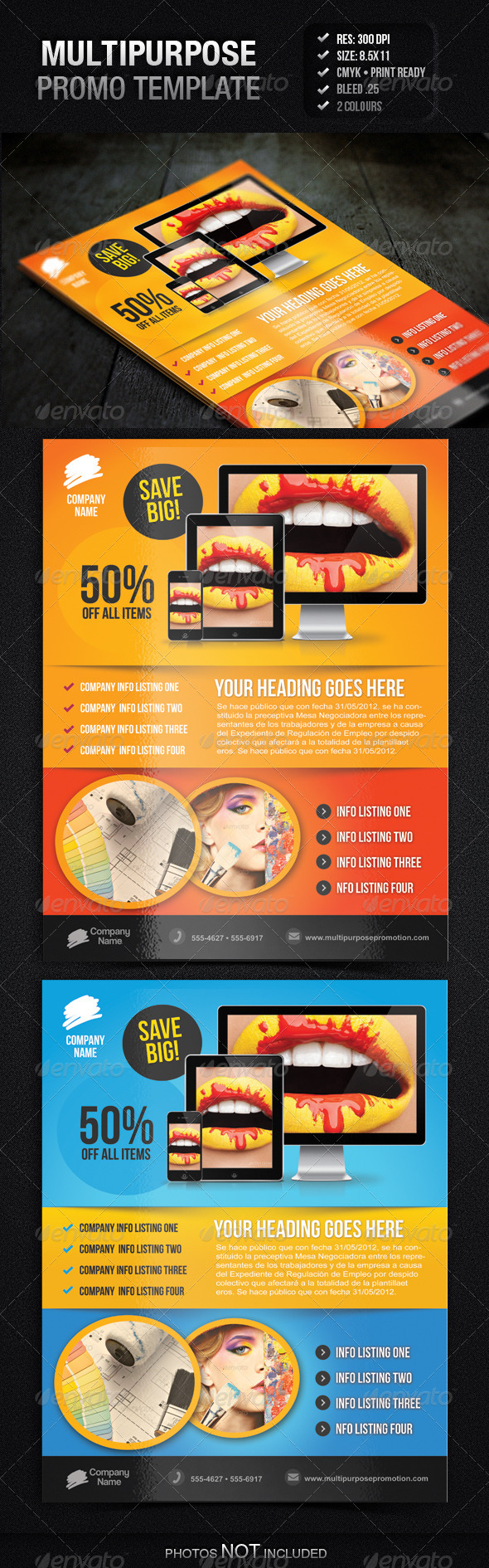 GraphicRiver Multipurpose Promotion Flyer Template 4001049