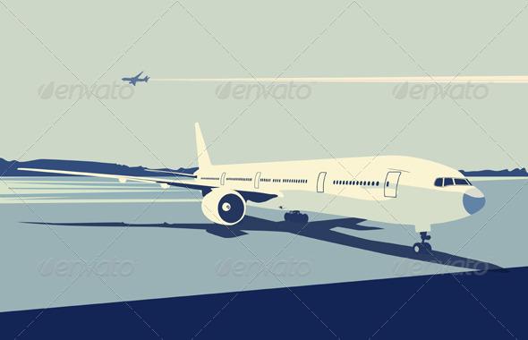 GraphicRiver Airport Scene 4112567