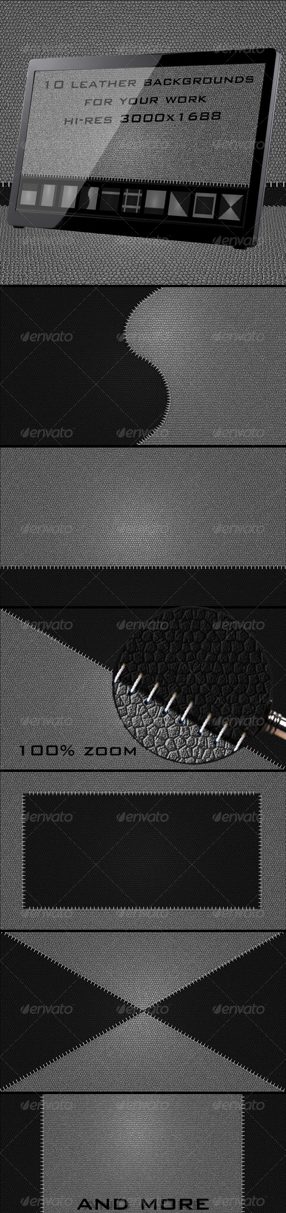 GraphicRiver 10 Leather Backgrounds 4112574