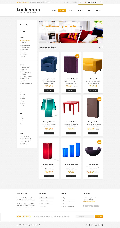 Lookshop - WordPress eCommerce Theme - Store page Screenshot