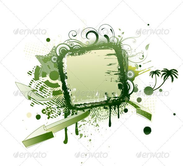 GraphicRiver Grunge Frame 4112789