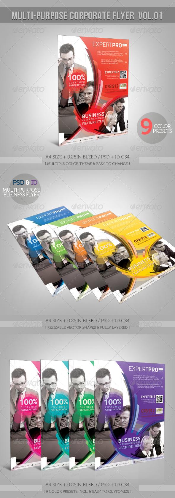 GraphicRiver Multipurpose Corporate Flyer 01 4112806
