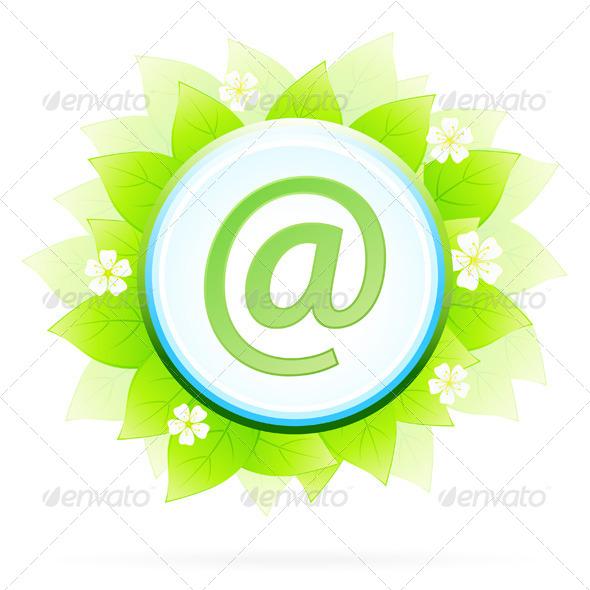 GraphicRiver Icon Button Internet and E-mail 4112831