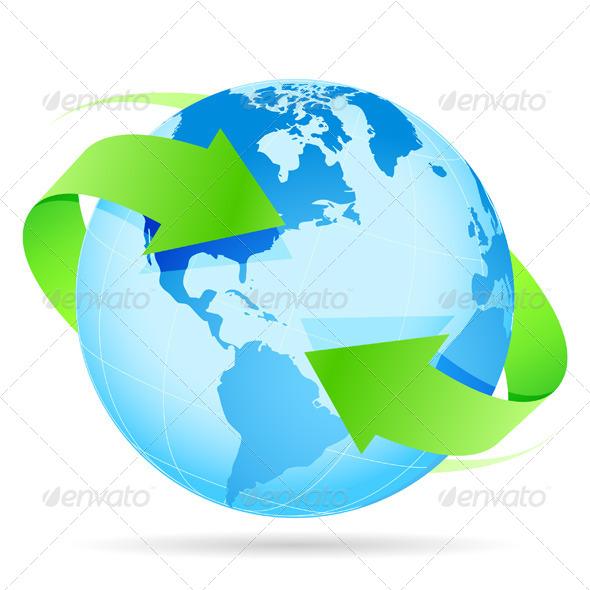 GraphicRiver Icon Planet Earth Arrow 4112837