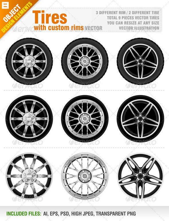 Tires with Custom Rims