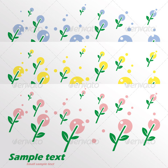 GraphicRiver The Card with Pink Spring Flowers 4040548