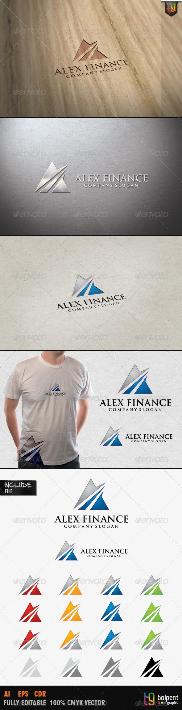 GraphicRiver Alex Finance Logo Template 4115157