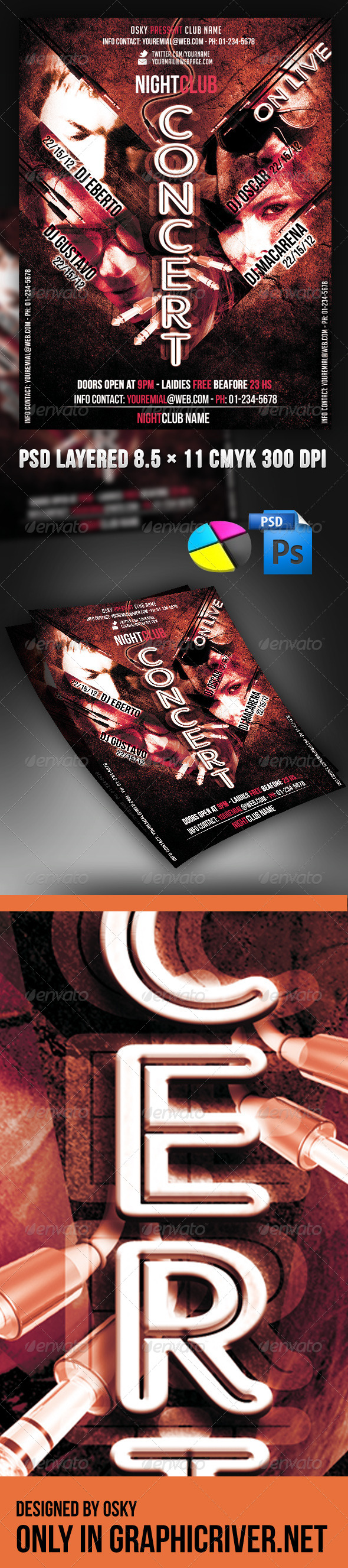 GraphicRiver Concert Flyer 4115174