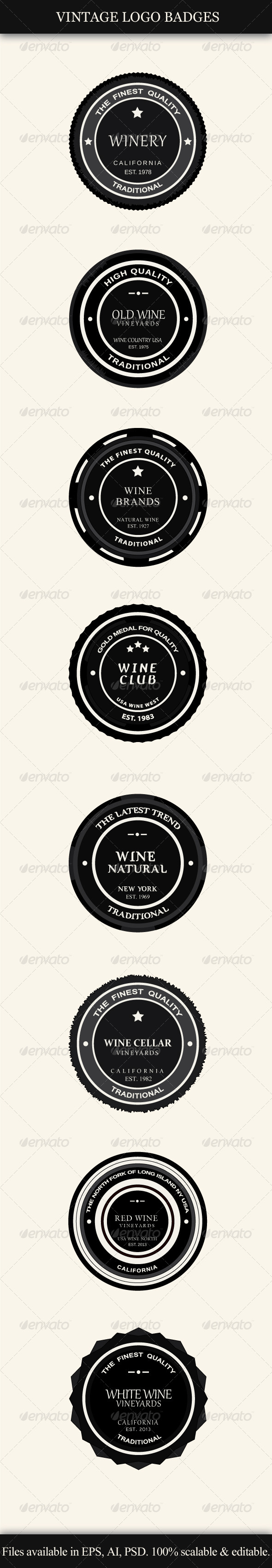GraphicRiver Vintage Logo Badges 4116024