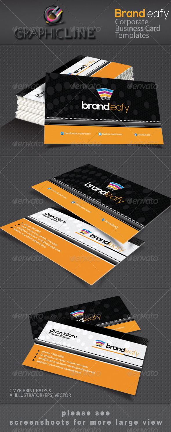 GraphicRiver Brandleafy corporate business card 4116045