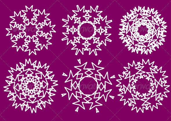 GraphicRiver Snowflakes 4116451