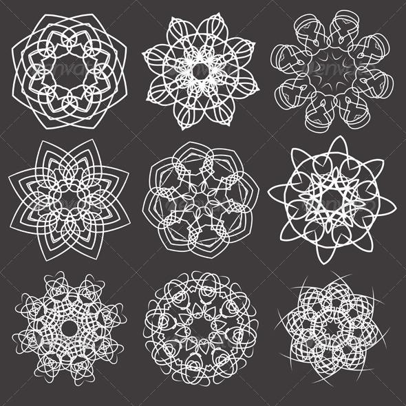 GraphicRiver Snowflakes 4116453