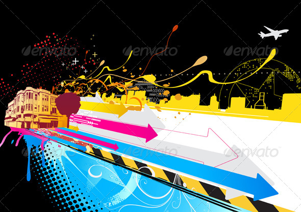GraphicRiver Urban Background 4116841