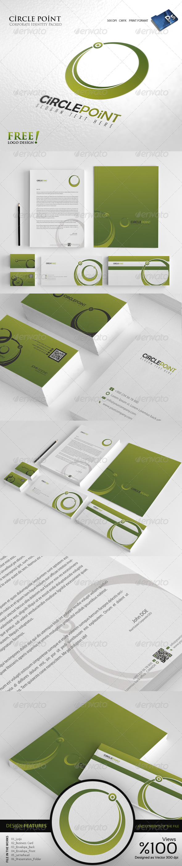 GraphicRiver Circle Point Corporate identity 4117018