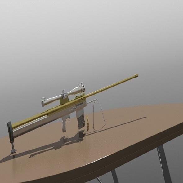 3DOcean sniper 50bmg 4117130