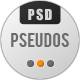 Pseudos Single Page PSD Template - ThemeForest Item for Sale