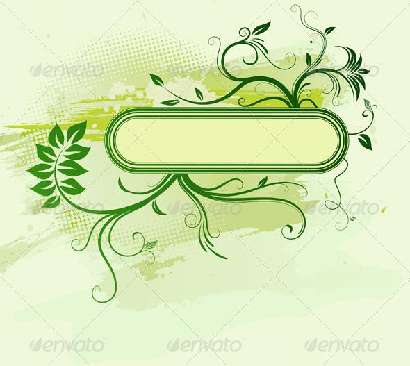 GraphicRiver Floral Frame 4117415