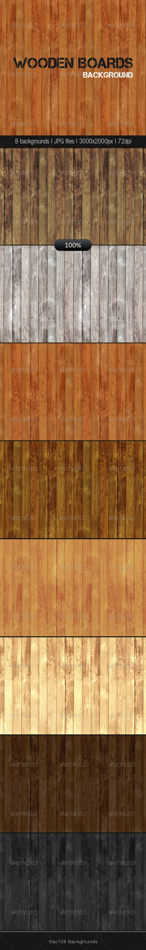 GraphicRiver Wooden Boards Background 4117648