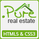 .Pure Real Estate HTML5 & CSS3 Template - ThemeForest Item for Sale