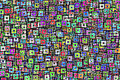 background with bright colored squares - PhotoDune Item for Sale
