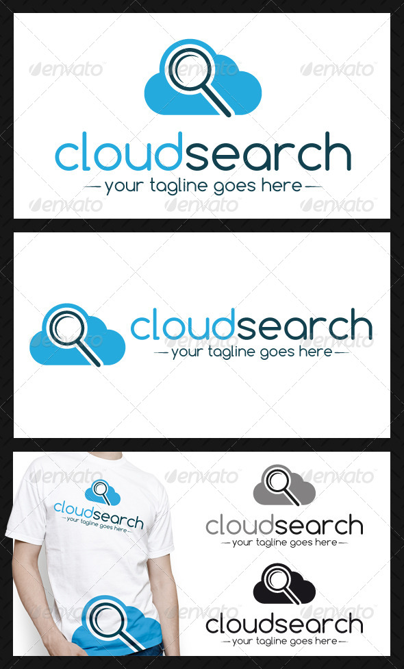 GraphicRiver Cloud Search Logo Template 4117737