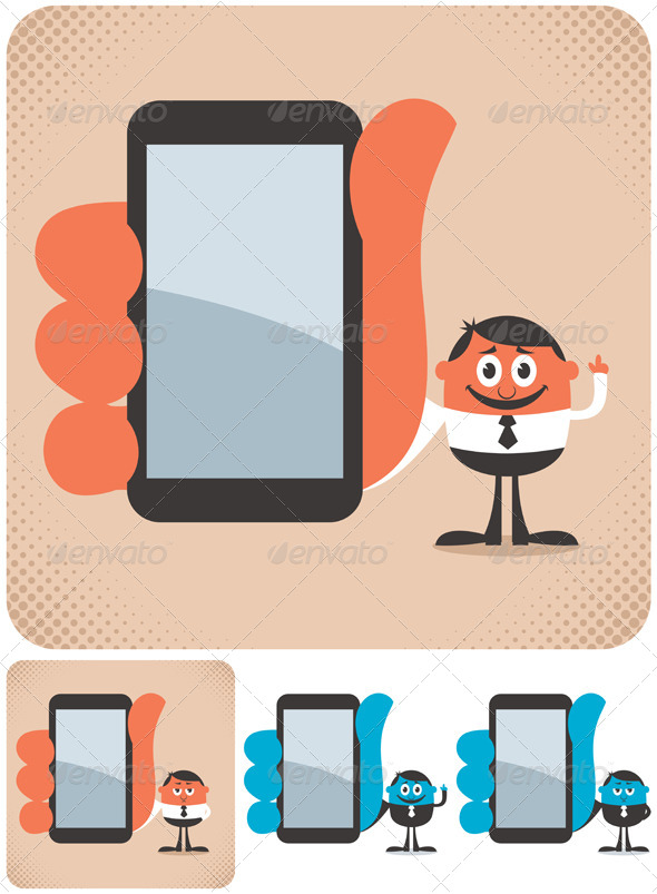 GraphicRiver Holding Smartphone 4117778