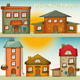 Cartoon Houses Set - GraphicRiver Item for Sale