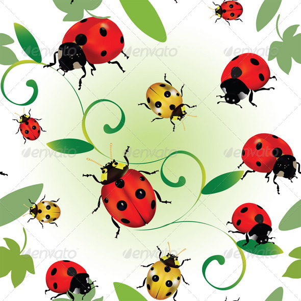 GraphicRiver Seamless Ladybugs 4117943