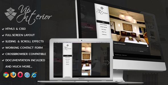 VIP Interior - Fullscreen Onepage Template