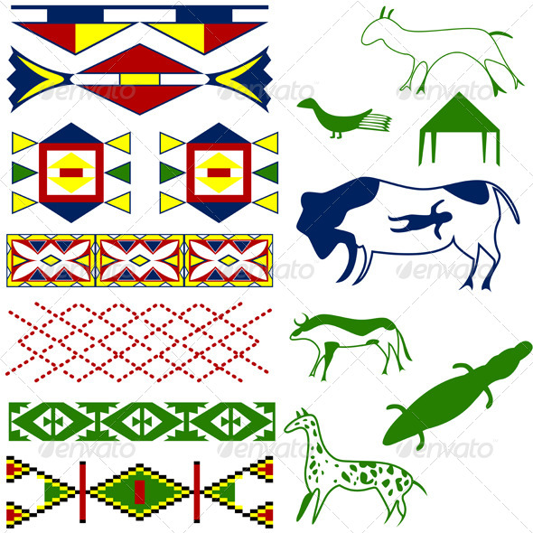 GraphicRiver Ancient American Pattern 4118005