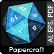 Twenty Faces Papercraft Dice - GraphicRiver Item for Sale