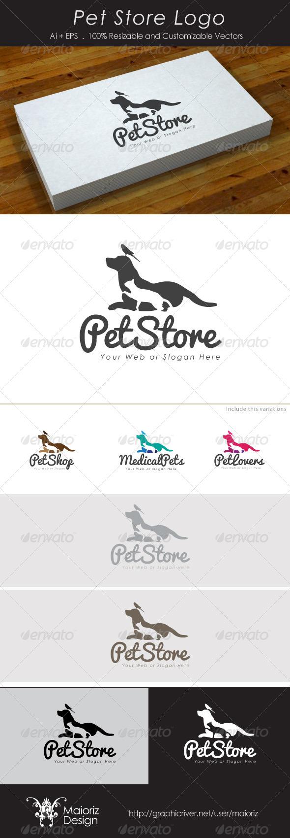 GraphicRiver Pet Store Logo 4118109