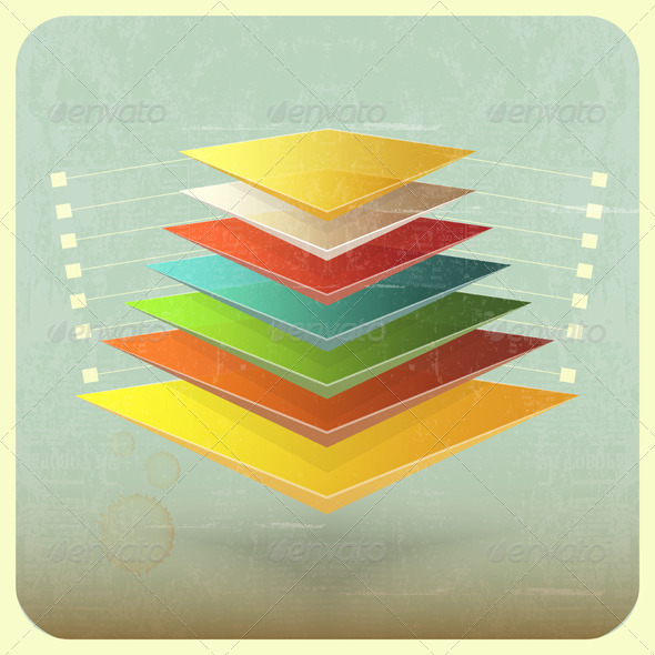 GraphicRiver Infographics in Retro Style 4118119