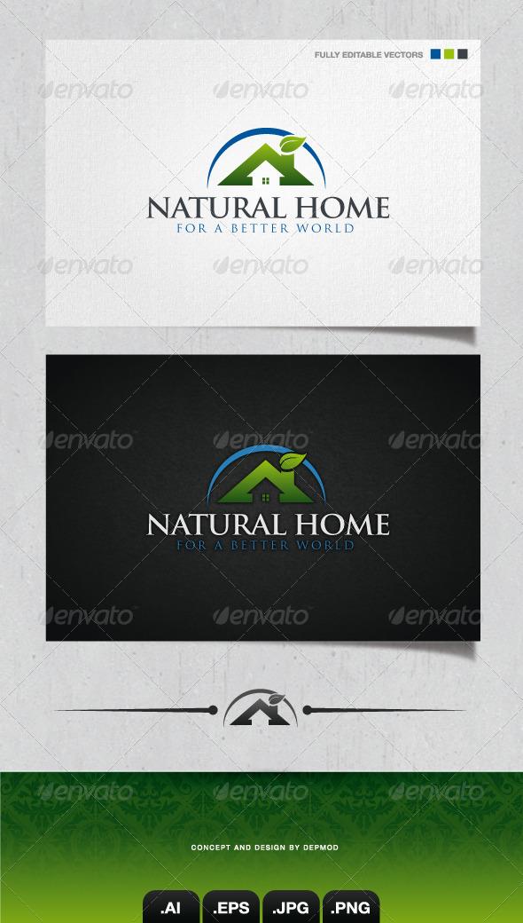 Natural Home Logo - Buildings Logo Templates