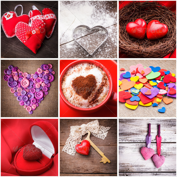Various hearts - Stock Photo - Images