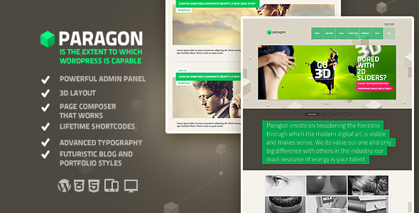 ThemeForest Paragon creative upscale boundless WP theme 4118716