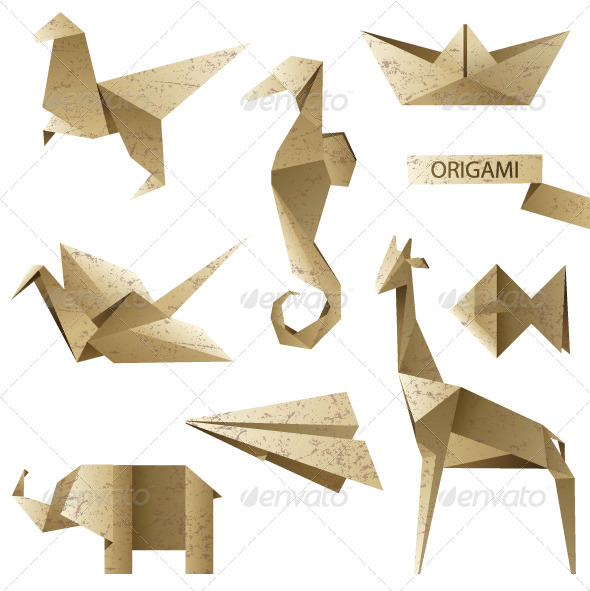 GraphicRiver Origami Icons 4118722