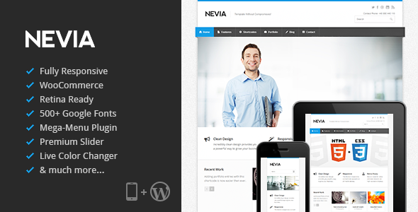 ThemeForest Nevia Responsive WordPress Theme 4118819