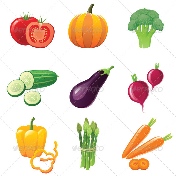 GraphicRiver Vegetables Icons 4118822