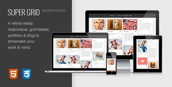 ThemeForest SUPER GRID Retina Ready Portfolio & Blog 4097521