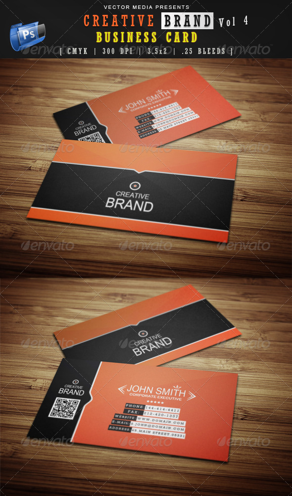 GraphicRiver Creative Brand Business Card [Vol.4] 4118889