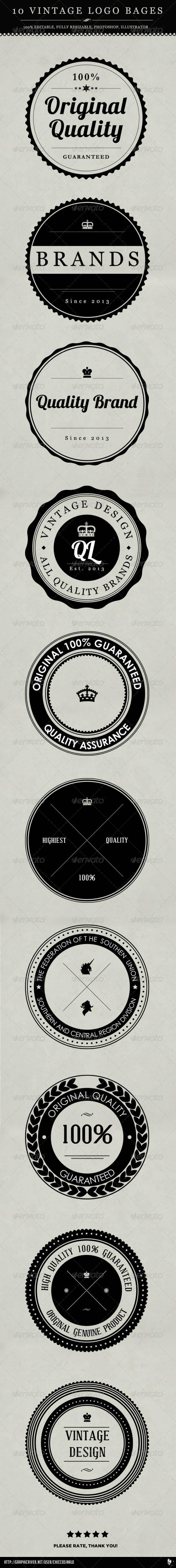GraphicRiver 10 Vintage Logo Badges 4118900