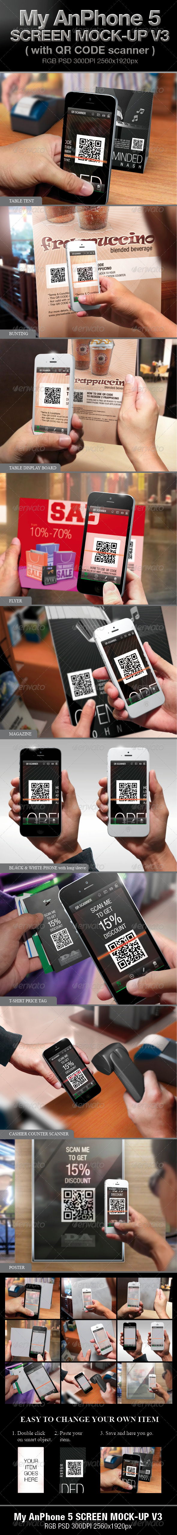 GraphicRiver My AnPhone 5 Screen Mock-up V3 4118937